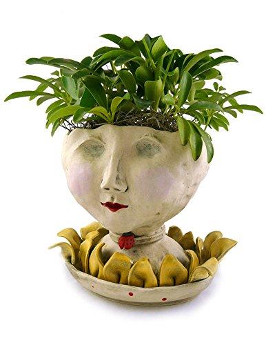Victorian Lovelies Sculpted Indoor Head Planter: Petaluma Lady Version by Modern Artisans