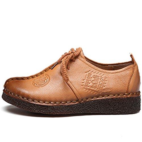 Vogstyle Damen Neue Flache Schuhe Laura Vita Casual Slipper Art 6 Braun