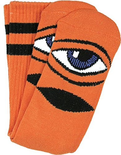 Toy Machine Sect Eye (Toy Machine Sect Eye III Crew Socks Orange - Single Pair)