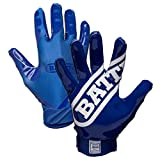 Battle Sports Science Double Threat Football Gloves - Blue - Adult - SM