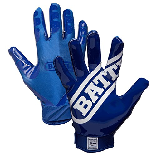 Battle Sports Science Double Threat Football Gloves - Blue - Adult - SM ()