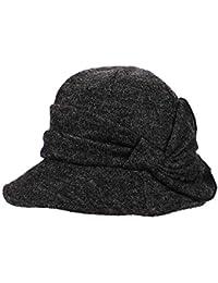 c2ff785376c Knit Beret Women Hat Cloche Bucket Fall Winter Warmer Fedora Cap Adjustable  Breathable Lady Protection Headwear