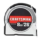 CRAFTSMAN Tape Measure, Chrome Classic, 8-Meter