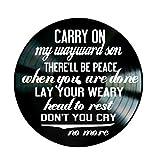 Wayward Son song lyrics by Kansas and Supernatural theme song on a Vinyl Record Album Wall Art