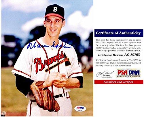 (Signed Warren Spahn Photo - 8x10 inch Certificate of Authenticity COA) - Deceased Hall of Famer - PSA/DNA Certified)