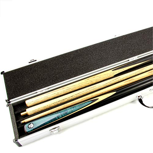 - Funky Chalk 2 CUE Aluminium Pool Snooker Cue Case for Centre Joint Cues - Holds 2 CUES