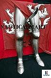Nauticalmart Medieval Larp Full Leg Armor UPPER leg, knees,greaves and sabaton Halloween