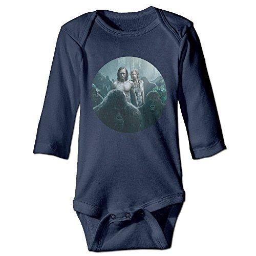 Newborn Boy Girls Infant The Legend Of Tarzan Jumpsuit Bodysuit Clothes (Tarzan And Jane Kid)