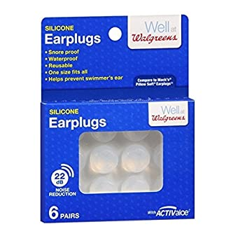 Walgreens Soft Silicone Swimming Earplugs