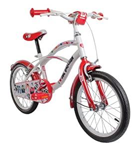 One Direction Girl S One Direction Cruiser Bike Red White 16