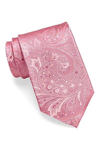 Hugo Boss Men's Tonal Paisley Silk Tie, OS (Open Pink) by Hugo Boss
