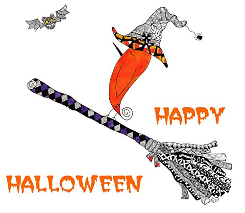 Cute and Colorful Happy Halloween Note Cards and Greeting Card - 12-Pack with Envelopes