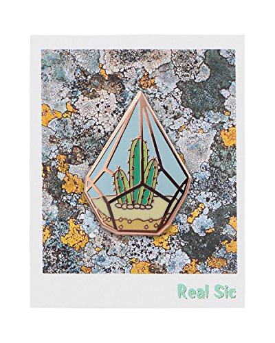 Real Sic Cactus Enamel Pin by Cute Cactus in Geometric Terrarium Lapel Pin - Premium Unisex Collection by Real Sic (Image #5)'