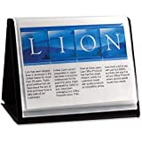 Display Book, Horizontal Easel, 11''x8-1/2'', Black - 2pc