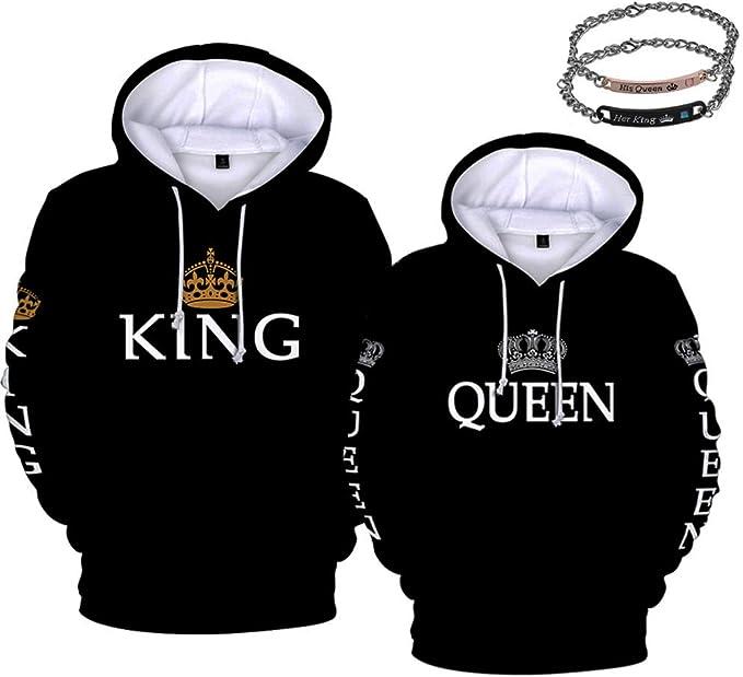 ejemplo de sudaderas para parejas rey y reina