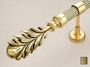 WinarT USA 8.1075.45.09.200 Palas 1075 Curtain Rod Set - 1.75 in. - Antique Bronze - 78 in.
