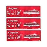 Colgate Optic White Toothpaste, Sparkling Mint, 3.5 Ounce (Pack of 3)