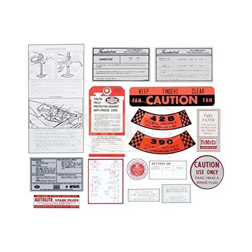 (MACs Auto Parts 66-47726 Ford Thunderbird Decal Kit, 16 Pieces,)