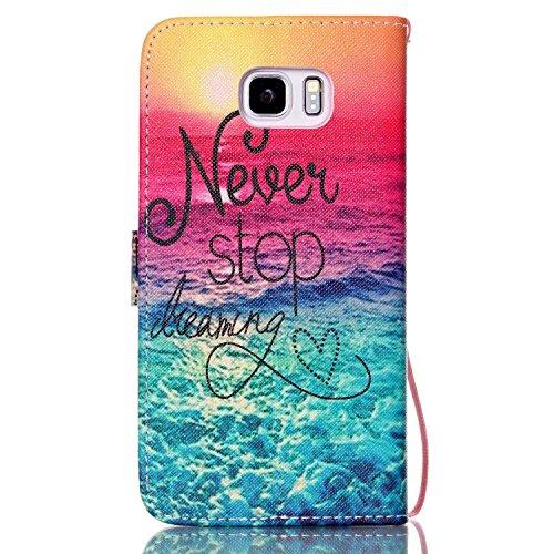 Galaxy Note 5 Hülle, Galaxy Note 5 Case, Anlike Schutzhülle Wallet Case Tasche Cover Handytasche Schutzhülle Handy Zubehör Lederhülle Handyhülle mit Standfunktion Kredit Kartenfächer Hülle für Samsung YB--a07