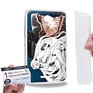Case88 [Sony Xperia E4 / E4 Dual] Gel TPU Carcasa/Funda & Tarjeta de garantía - Kantai Collection Kancolle Symbiotic Hime Anchorage Princess 1011