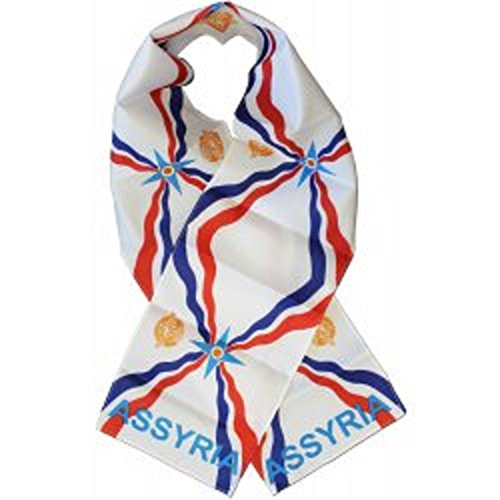 (Assyrian Assyria Country Lightweight Flag Printed Knitted Style Scarf)
