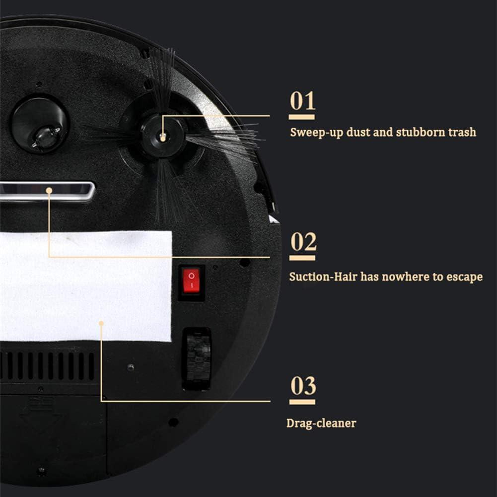 LAHappy Robot Aspirateur avec télécommande et stérilisation UV Forte Puissance d\'Aspiration pour Les Poils d\'animaux,Rouge Red