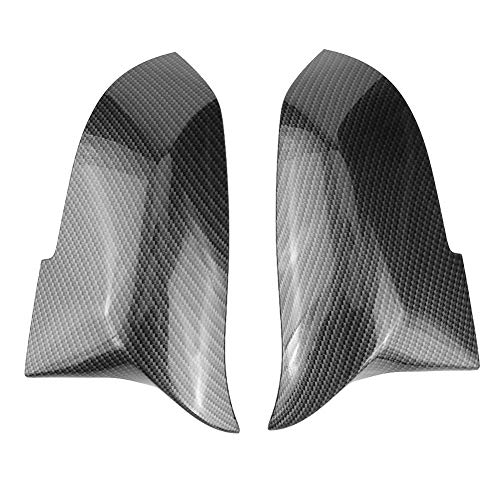 (Everpert 1 Pair Door Mirror Cover Caps Fits for BMW 3 Series F30 F31 4 Series F32 F33 F36, Carbon Fiber Driver and Passenger Side Door Mirror)