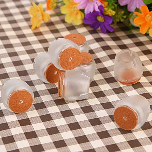 Furniture Legs - Silicone 8pcs Pack Round Chair Leg Caps Rubber Feet Protector Furniture Pads Table Covers Diameter - Extension Chrome Slip Feet Hairpin Maple Peg Plastic Two Stainless ()