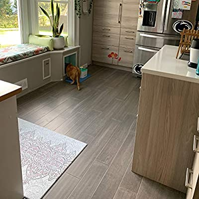 Sample- Antique Iron Wide Click Bamboo Geowood Plank Flooring