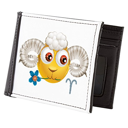 Truly Zodiac Wallet Men's Billfold Teague Truly Smiley Face Zodiac Face Men's Aries Billfold Smiley Teague Wallet 6FrqR6