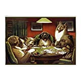CafePress - Waterloo Dog Poker - Decorative Area Rug, 5'x7' Throw Rug