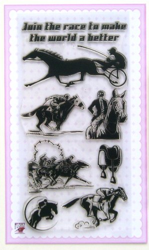 (Horse races // Clear stamps pack (4