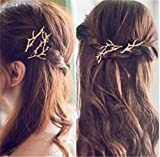 2PCS Fashion Creative Branches Antlers Hairpin Personalized Hair Clip