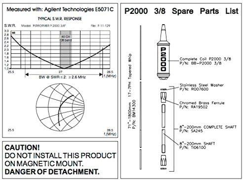 Sirio 2000 - Antena de 3/8 (10 m, CB, para 3/8 y 24)