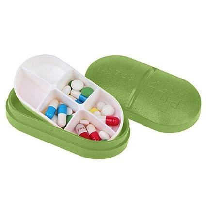 Riklos 6 Partes de la píldora Travel Box Sostenedor de la Tableta Dispensador de medicamentos Organizador