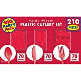 Amscan Sturdy Big Party Pack Window Box Value Party Supply Cutlery Set, 6.6