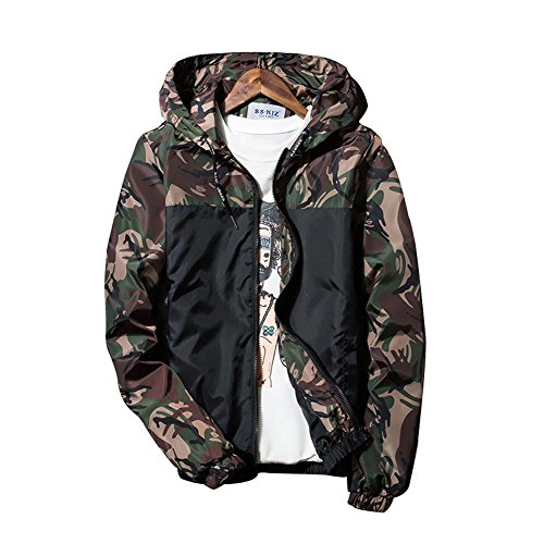 Banana Bucket Floral Bomber Camouflage Jacket Men Hip Hop Slim Fit Flowers Bomber Jacket Coat Men's by Banana Bucket