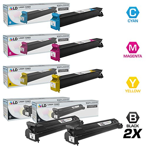 LD Compatible Toner Cartridge Replacement for Konica Minolta Bizhub C203 & C253 (2 Black, 1 Cyan, 1 Magenta, 1 Yellow, 5-Pack) ()
