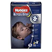 Huggies Overnites Diapers, Size 6, 18 ct