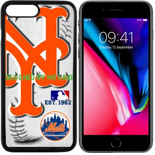 Mr Met Light (Mets New York Baseball New Black Apple iPhone 8 Case By Mr Case)