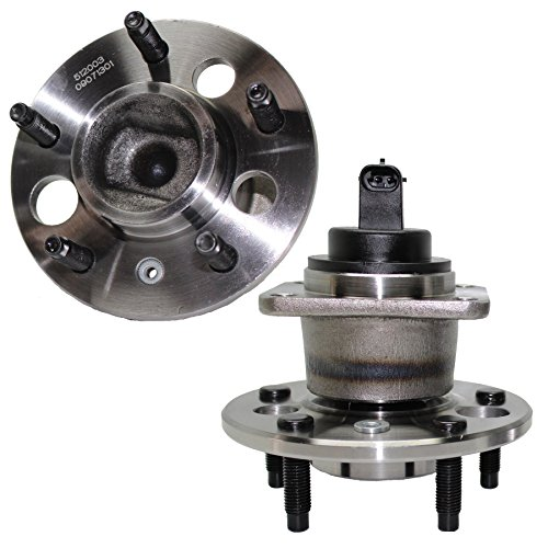 Cadillac Deville Rear Hub - Detroit Axle - (2) Rear Wheel Bearing and Hub Assembly 5 Lug W/ABS (Pair) 512003 x 2 - HIGHEST QUALITY - 10 YEAR WARRANTY!