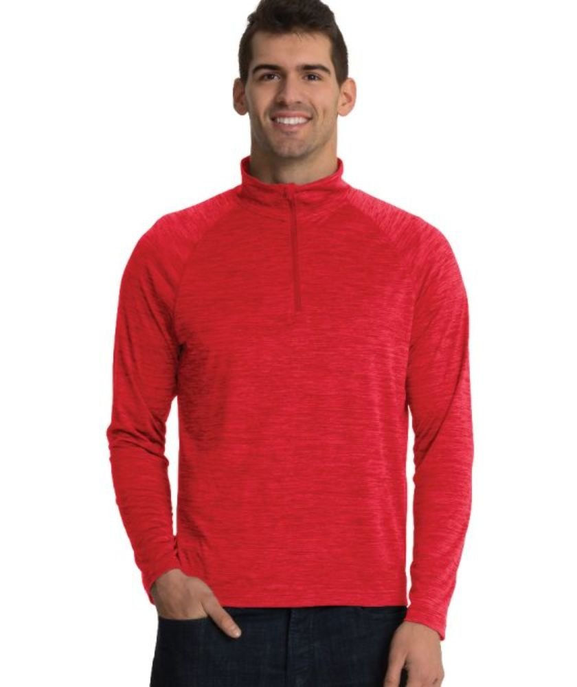 Charles River Apparel Men's Space Dye Performance Pullover - 9763 - Red - L