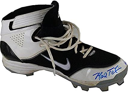 e51a2fb83dbeb5 Mark Teixeira Autographed Signed Game Used Cleats with Game Used Insc Two  Different Shoes Size
