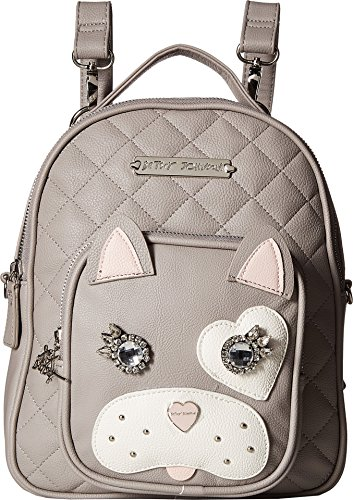 Betsey Johnson Womens Convertible Backpack Grey Multi One Size from Betsey Johnson