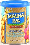 Mauna Loa Unsalted Dry Roasted Macadamias, 4.5-Ounce Can (Pack of 12)