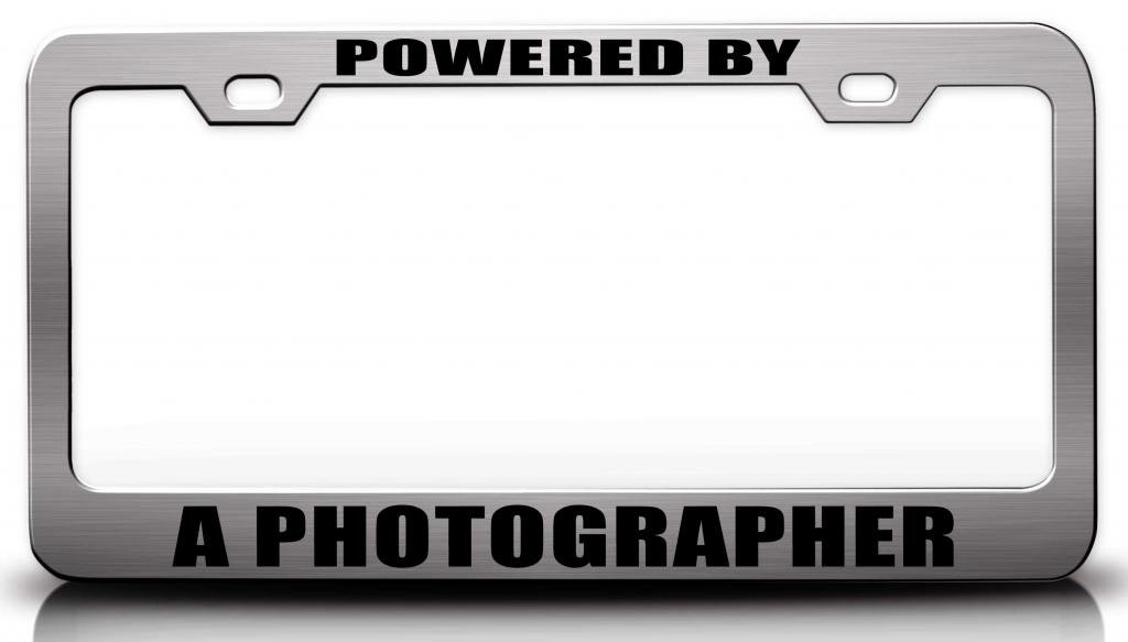 Amazon.com: POWERED BY A PHOTOGRAPHER Career Steel Metal License ...