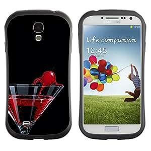 LASTONE PHONE CASE / Suave Silicona Caso Carcasa de Caucho Funda para Samsung Galaxy S4 I9500 / Cocktail Martini Cherry