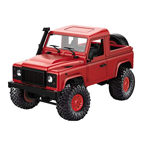 CreazyBee Vintage D91k 1/12 2.4G Remote Control RC Car Off-Road Military Truck Buggy Toys DIY Kit (red)
