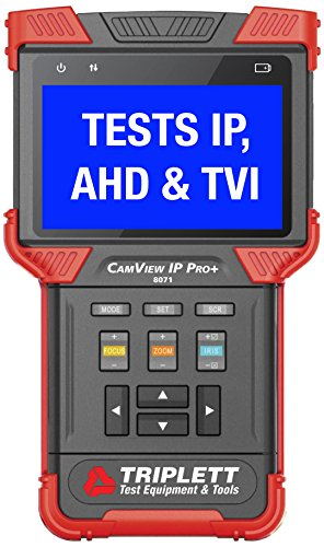 Triplett 8071 CamView IP PRO+ Ruggedized IP and Analog NTSC/PAL/AHD and HD-TVI Camera Tester with Built-in DHCP Server