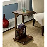 Furniture of America Urmo Distressed Antique End Table